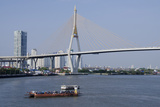 Car Ferry on the Chao Phraya River  Bangkok  Thailand