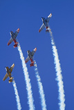 Aerobatic Display by North American Harvards  or T-6 Texans  or SNJ  Airshow