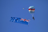 Rnzaf Sky Diving  New Zealand Flag  Warbirds over Wanaka  South Island New Zealand