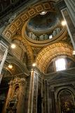 Vatican City  Rome  Italy  Ceiling Inside Saint Peter's Basilica