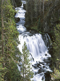 View of Kepler Cascades on Firehole River  Wyoming  USA