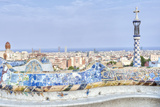 Park Guell Terrace  Barcelona  Spain