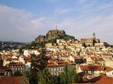 Cathedral Notre Dame  Statue  Haute Loire  Le Puy  France