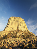 Devil's Tower National Monument at Dusk  Hulett  Wyoming  USA