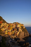 Evening Light on the City of Manarola  Cinque Terre  Italy