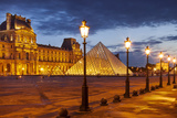 Palais Du Louvre at Twilight  Paris  France