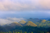 Chocolate Hills in Morning Mist  Bohol Island  Philippines
