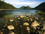 Jordan Pond and the Bubbles Mountain  Acadia National Park  Maine  USA