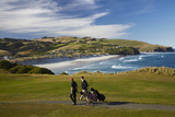 Golfers  Chisholm Park Golf Course  Dunedin  South Island  New Zealand