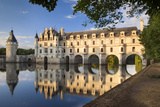 Evening Sunlight  Chateau Chenonceau  Castle  River Cher  Indre-Et-Loire  France