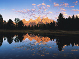 Teton Range Reflecting in Beaver Pond  Grand Teton National Park  Wyoming  USA