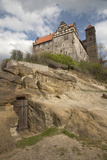 View of Romanesque St Servius Church Atop Castle Hill  Germany