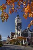 Autumn and Historic Train Station  Dunedin  Otago  South Island  New Zealand