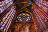 Stained Glass Windows  Church  Upper Chapel  Sainte Chapelle Church  Paris  France