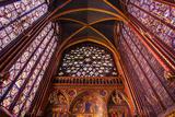 Stained Glass Windows  Church  Upper Chapel  Sainte Chapelle Church  Paris  France