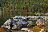 Jordan Pond in Evening Light in Autumn  Acadia National Park  Maine  USA