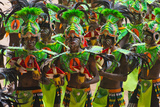 Parade at Dinagyang Festival  City of Iloilo  Philippines
