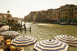 The Bustling River Front Along the Gran Canal  Italy