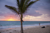 Man Jogging at Sunrise  Bavaro  Higuey  Punta Cana  Dominican Republic