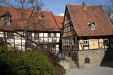Half-Timbered Buildings  Castle Hill  Quedlinburg  Germany