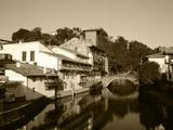 Houses with River Nive  Saint-Jean-Pied-De-Port  Pyrenees-Atlantiques  France