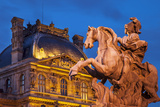 Equestrian Statue of King Louis XIV  Musee Du Louvre  Paris  France