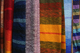 Woven Moroccan Silk Textiles and Scarves  Fes  Morocco  Africa