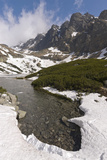 Skalnate Pleso Skiing Resort of High Tatra Mountains in Summer  Slovak Republic