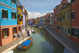 Bright Colored Homes Along the Canal  Burano  Italy
