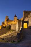 Twilight  Fortification  La Cite Carcassonne  Languedoc-Roussillon  France