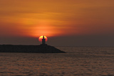 Sunset View of Lighthouse in Manila Bay  Manila  Philippines