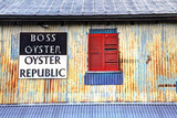 Old Tin Building with Red Shutters  Apalachicola  Florida  USA