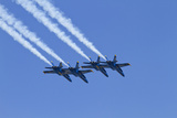 The Blue Angels  Airshow  SEAFAIR  F/A-18 Hornet Aircraft  Seattle  Washington  USA