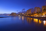 Twilight  Waikiki  Honolulu  Oahu  Hawaii  USA