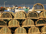 Stack of Lobster Traps at Neil's Harbor  Cape Breton  Nova Scotia  Canada