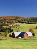 Barnet  View of Farm in Autumn  Northeast Kingdom  Vermont  USA