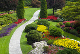 Butchart Gardens in Full Bloom  Victoria  British Columbia  Canada