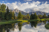 Teton Mountains in Schwabacher Landing  Snake River  Grand Teton National Park  Wyoming  USA