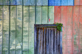 Colorful Old Tin Shed with Wooden Door  Apalachicola  Florida  USA