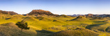 Panoramic  Bears Paw Mountains in Summer in Blaine County  Montana  USA