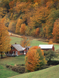 Jenne Farm in Autumn  Reading  Vermont  USA