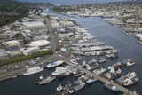 Lake Washington Ship Canal  Marinas  Hiram S Chittenden Locks  Seattle  Washington  USA