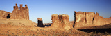 View of Courthouse Towers  Arches National Park  Utah  USA