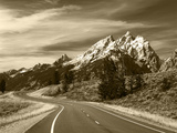 Teton Park Road and Teton Range  Grand Teton National Park  Wyoming  USA