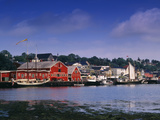 Atlantic Fisheries Museum and Lunenburg Harbor  Lunenburg  Nova Scotia  Canada
