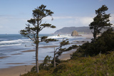 Cannon Beach and Haystack Rock  Oregon  USA