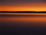 View of Yellowstone Lake at Sunset  Yellowstone National Park  Wyoming  USA