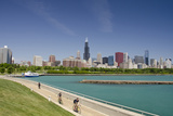 Downtown City Skyline View of Chicago from Lake Michigan  Chicago  Illinois