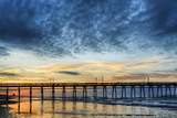 Sunset Beach Pier at Sunrise  North Carolina  USA