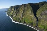Waterfalls  North Kohala Coast  Big Island  Hawaii  USA